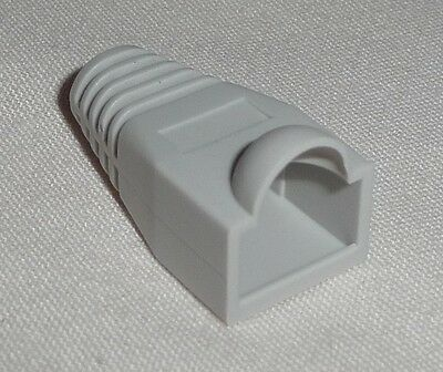 20 x RJ45 Boot Cover for PLUG Connector Network Cable cat5e ethernet  Light GREY