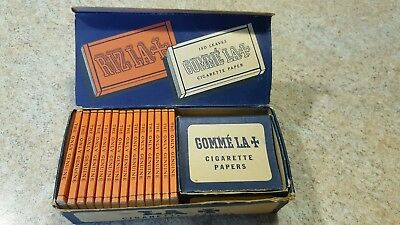Vintage La+ Cigarette Tobacco Rolling Papers With Original Display Box~Rare