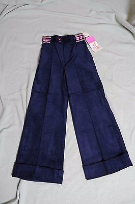 VTG NOS '70s Blue Corduroy Little lady Wrangler bell bottom high waist pants 10