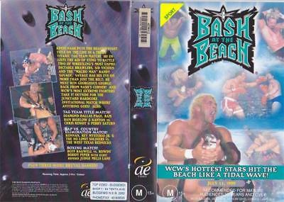 Wcw Wrestling  Bash At The Beach July 1999   A Rare Find  ~Vhs Video Pal