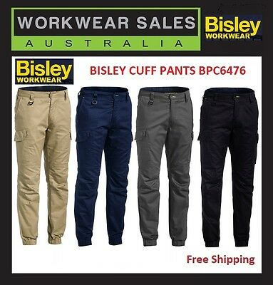 Bisley Cuffed pants BPC6476. Ripstop Stove Pipe Engineered Cargo Pant