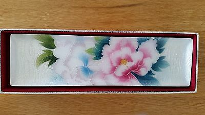 Japanese wireless Cloisonne tray floral design