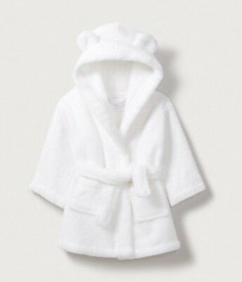 The Little White Company White Baby Dressing Gown Size 0-6 Months Brand New