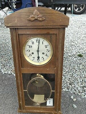 vtg gustav becker wall clock,working