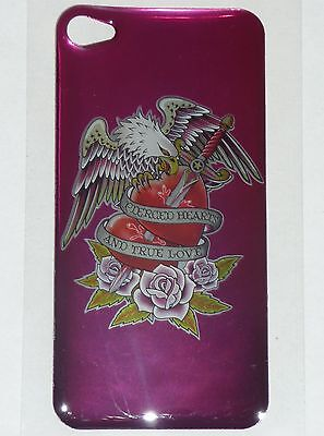 PIERCED HEARTS & Eagle Design BACK STICKER for Apple iPhone 4/4G/4S Phone Decal