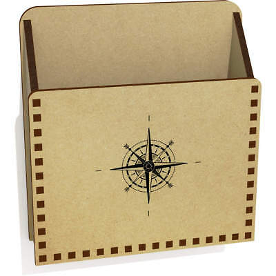 'Compass' Wooden Letter Holder / Box (LH00026603)