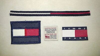 4pcs Tommy Hilfiger TH TH85 Sew on Embroidery and Woven Label + FREE Ship 🔥 hot