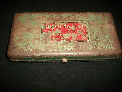 Vintage Whitney Metal Tool Company No.5 JR Punch