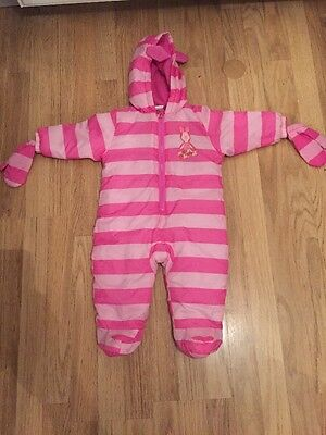 Disney Baby Piglet Padded Suit Age 6-9 Months gloves winter hood suit clothing