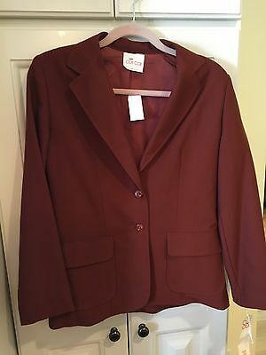 COS COB rust wool blend skirt suit Blazer size 9/10 Skirt 7/8 NWT Vintage