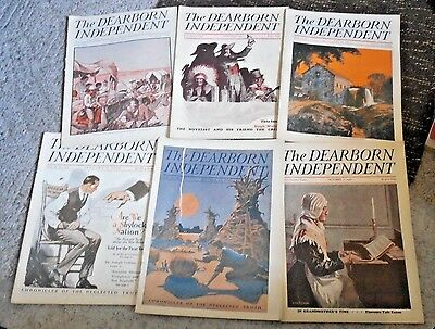 """Lot Of 10 Early 1920's Back Issues """"the Dearborn Independent"""""""