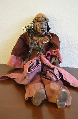 BEAUTIFUL Antique Asian Hand puppet marionette handmade carved wood hand painted