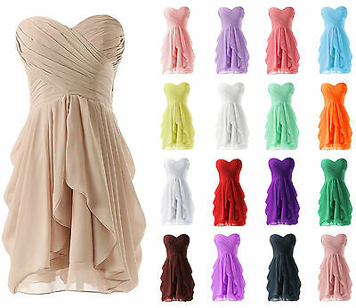 New Short Prom Evening Cocktail Ball Party Gown Formal Wedding Bridesmaid Dress