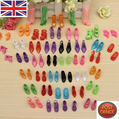 40 Pairs of Fashion Mix Assorted Multiple Styles High Heel Shoes For Barbie Doll