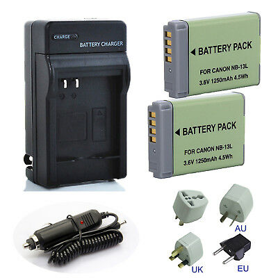 NB-13L NB13L Battery Charger Pack for Canon PowerShot G7XII G7X G9X SX720 HS