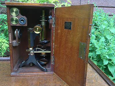 A good antique Victorian microscope signed Baker,244 High Holborn,London.