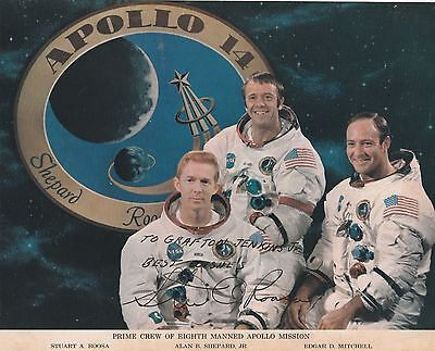 Stuart Roosa -- Signed And Dated Official Nasa 8X10 Photograph