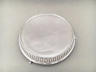 A Victorian Chester Silver Teapot Stand Or Coaster