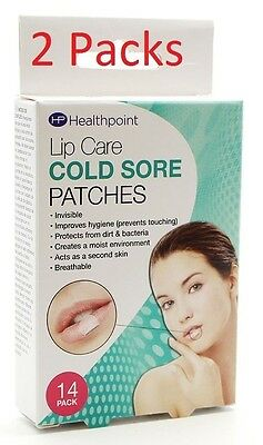 2X Healthpoint Invisible Cold sore Patches 14pk (2 packs of 14s, good value)