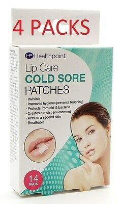 4X Healthpoint Invisible Cold sore Patches 14pk (4 packs of 14s, good value)