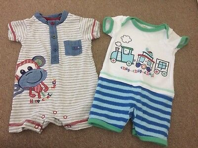 Baby Boys Shorts, Outfit Bundle X2 M&co 0-3 Months