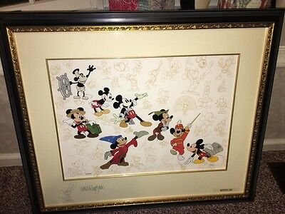 Framed Disney Mickey's Milestones Cel LE 500 Signed Ward Kimball  New in plastic