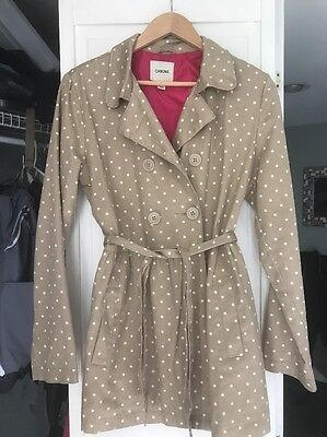 Girls Cotton Twill Trench coat, Sz XL