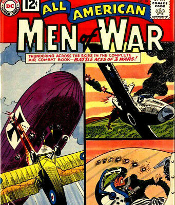 ALL AMERICAN MEN OF WAR & ATTACK - Classic Vintage US Army War Comics on DVD