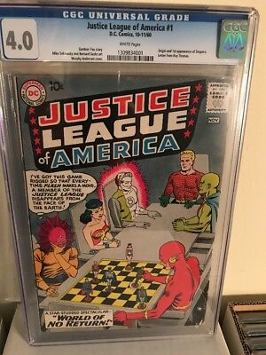 Justice League 1 CGC 4.0 White Pages!