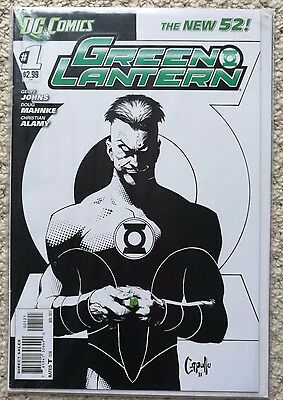 Green Lantern #1, DC new 52, sketch Capullo variant, Geoff Johns