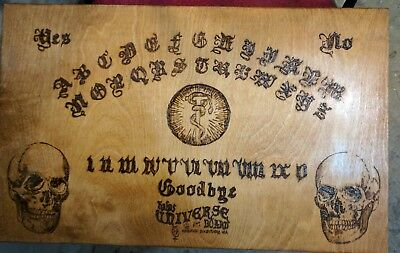 """Large  24"""" x 15"""" Old Occult Handmade Wooden Spirit Board"""