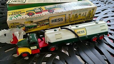 1964 Hess Oil Truck Comes With funnel Instruction Card And Original Box
