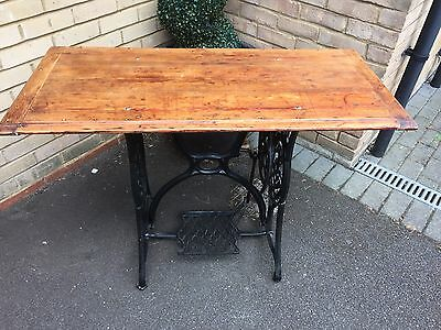 Upcycled Vintage Singer Treadle Sewing Machine Table Desk