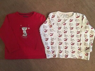 Baby Girls T Shirts With Fox Designs - Set Of 2 - 18-24 Months