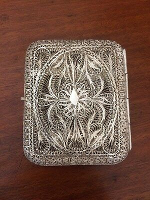 Silver Filigree Card/Cigarette Case