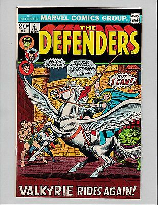 Defenders #4 (1973) (9.2) 1ST Appearance & Origin of Valkyrie Rare in High Grade