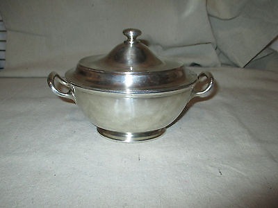 The Congress Hotel GORHAM Silver Soldered Covered Dish Vintage