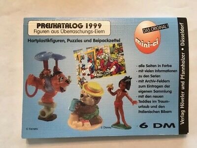 Kinder Egg Surprise Toys Ferrero 1999 Catalog with Prices in German