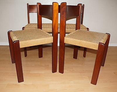Vintage Danish Teak  Kitchen Dining Table & Papercord Chairs Retro Delivery