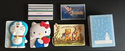 Japan Coin Set Lot (6) Shinkansen, Doraemon, Winnie the Pooh, Hello Kitty, etc.