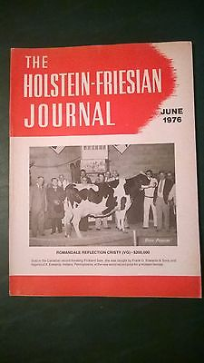 Holstein-Friesian Journal 1976 World Record Price Cow & Record Pickland Sale