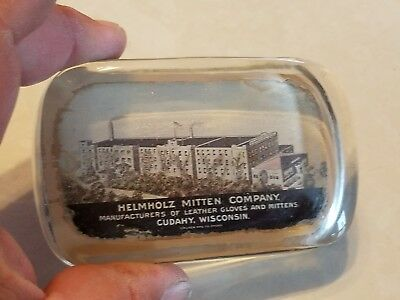 Helmholz Mitten company Cudahy Wisconsin advertising paperweight