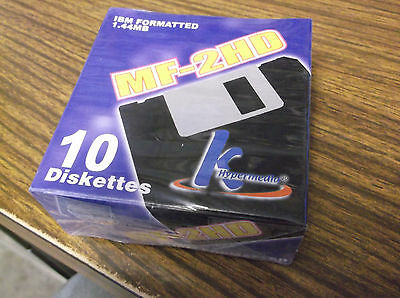 NEW K Hypermedia MF-2HD IBM Formatted 1.44MB 10 Diskettes 3.5 Inch Sealed
