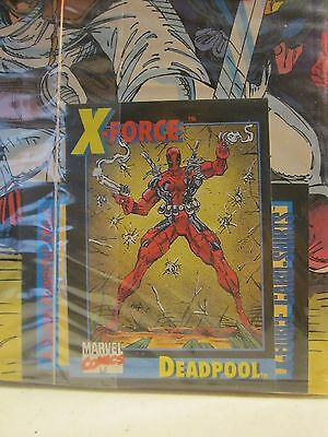 X-Force #1 1St Print Nm Marvel Comics 1991 Polybagged With Deadpool Card