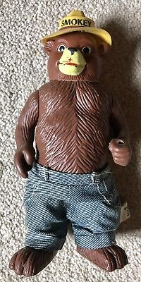 Smokey The Bear Squeaky Toy Vintage 1974 5.5 inches tall rare R. Dakin