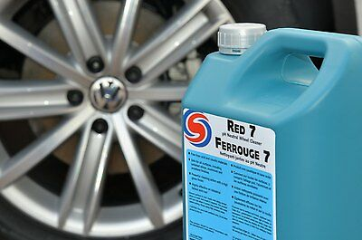 Autosmart Red 7 NEW PH NEUTRAL Wheel Cleaner and Fallout Remover 5 L FREE P + P