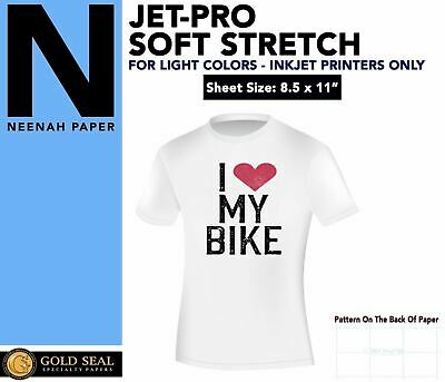 "Heat Press Inkjet Iron On Heat Transfer Paper Neenah Jetpro Ss 8.5 X 11"" - 100Pk"