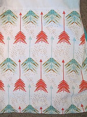 Carousel Designs Crib Skirt Dust Ruffle Arrows Print