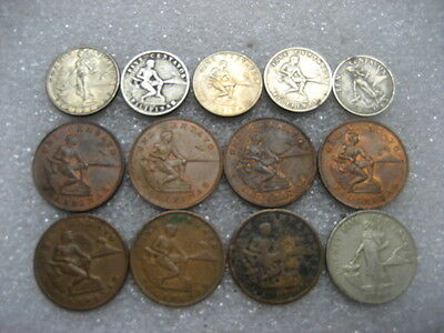 Coin Philippines 1903-66 Lot of 13 coins