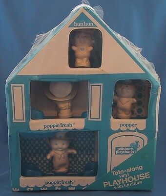 Vintage Pillsbury Doughboy TOTE-ALONG PLAYHOUSE Poppin' Fresh Puppets SEALED